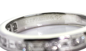 Tiffany & Co. Baguette & Round Brilliant Cut Diamond Channel Set Ring