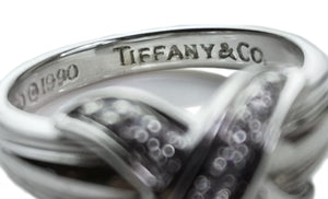 Tiffany & Co 1990 Signature X Diamond Ring SZ M (6.25)