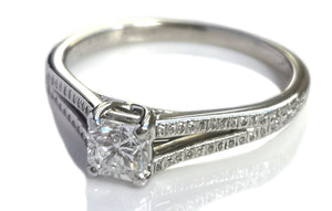 Tiffany & Co. 0.40ct Lucida Split Shank Diamond Set Engagement Ring