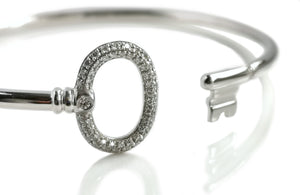 Tiffany & Co Keys Wire Bracelet 18k White Gold Diamonds RRP £3050