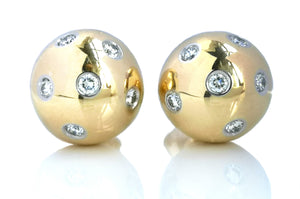 Tiffany & Co 18k Etoile Ball Earrings