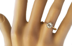 Antique 0.75ct Old Cut Round Diamond Engagement Ring in 18k Gold