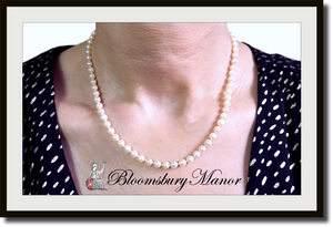 Vintage 5mm Hand Knotted Cultured Akoya Pearl Necklace 18k Clasp