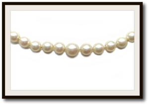 Vintage Hand Knotted Graduated 7.5- 3.75mm Cultured Akoya Pearl Necklace 18k Clasp 19in