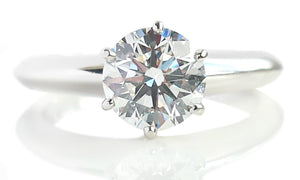 Tiffany & Co. 0.94ct F/VVS2 Triple XXX Round Brilliant Engagement Ring H 1/2
