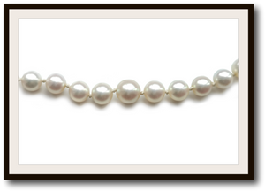 Vintage Akoya Hand Knotted Graduated Pearl Necklace 18 in