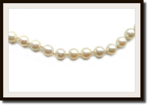Long Vintage Akoya Cultured Hand Knotted 7mm Pearl Necklace 26in
