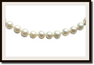 Vintage Akoya Vintage Pearl Necklace 18k Clasp 6.6mm 24 in