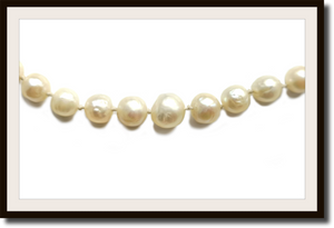 Vintage 1920s Art Deco Hand Knotted Graduated Cultured Pearl Necklace