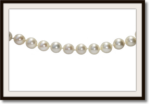 Vintage 7.8mm Akoya Cultured Pearl Necklace With Pearl Clasp