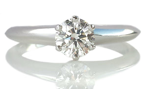 Tiffany & Co .50ct I/VS1 Round Brilliant Diamond Engagement Ring