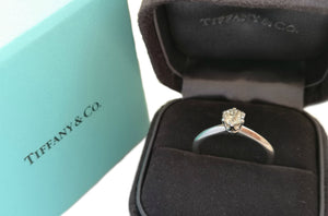 Tiffany & Co .46ct Triple XXX I/VS2 Round Brilliant Engagement Ring SZ N