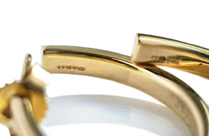 Tiffany & Co 1837 18k Medium Gold Hoop Earrings RRP £1675