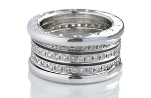 Bulgari B.Zero1 4 Band Diamond Ring SZ 51 RRP £10,900