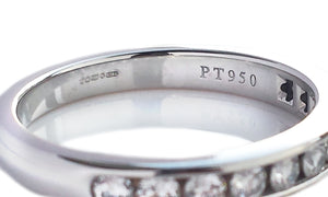 Tiffany & Co 3mm Channel Set Diamond Eternity Ring RRP £3325 SZ L