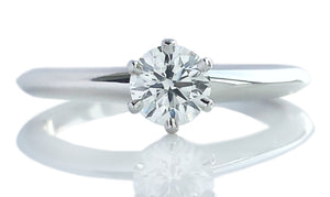 Tiffany & Co .33ct G/VS Round Brilliant Engagement Ring
