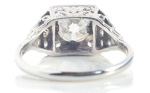 Original Art Deco 1.49tcw Old Cut Diamond Engagement Ring