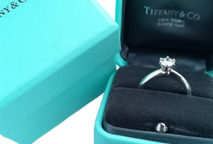 Tiffany & Co. 0.50ct I/VS1 Triple XXX Round Brilliant Cut Diamond Engagement Ring