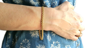 Cartier 18K Yellow Gold Narrow Maillon Panthere Bracelet 8in