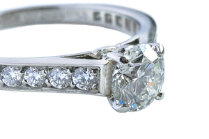 Cartier 1895 0.55ct H/VS1 Diamond Engagement Ring with Paved Platinum Band