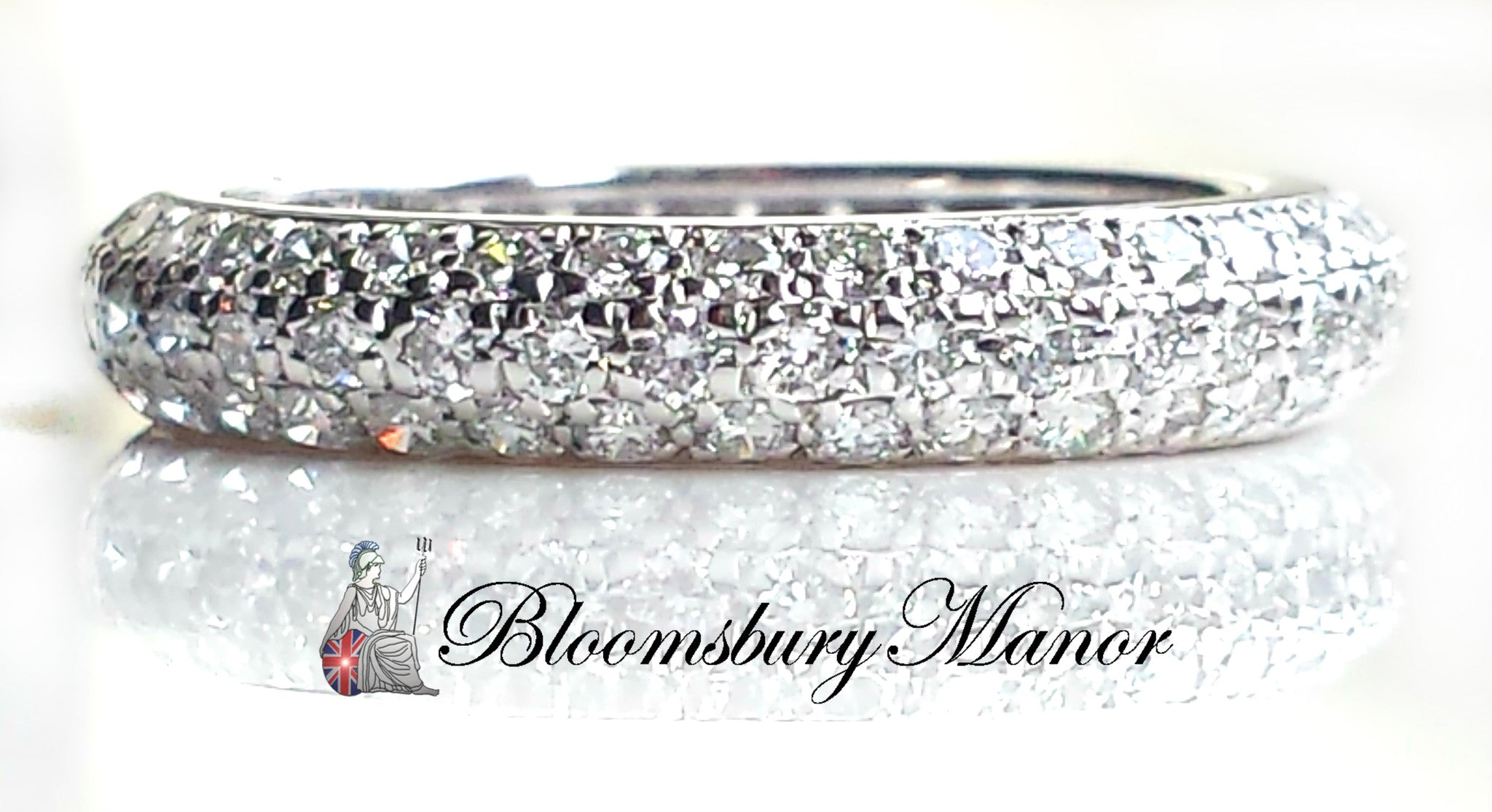 coast item band scalloped eternity diamond with pave bands fishtail wedding