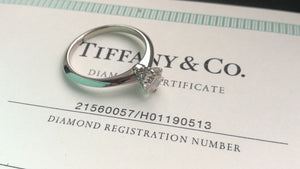 Tiffany & Co. 0.49ct H/VS1 Round Brilliant Cut Diamond Engagement Ring