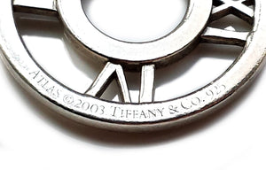 Tiffany & Co. 7½ inch Sterling Silver Atlas Toggle Bracelet with Pouch