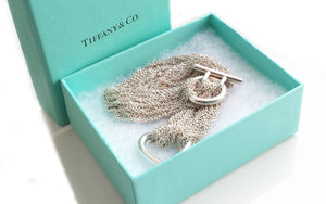 Tiffany & Co Multi Strand Heart Necklace Sterling Silver 15in