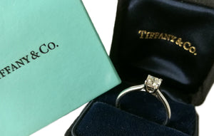 Tiffany & Co .52ct H/VS1 Lucida Diamond Engagement Ring SZ M 1/2