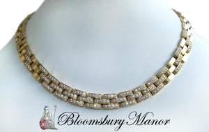 Second Hand Pre-owned Cartier Maillon Panthere Diamond Necklace
