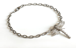 Tiffany & Co. Platinum & Diamond Dragonfly Bracelet