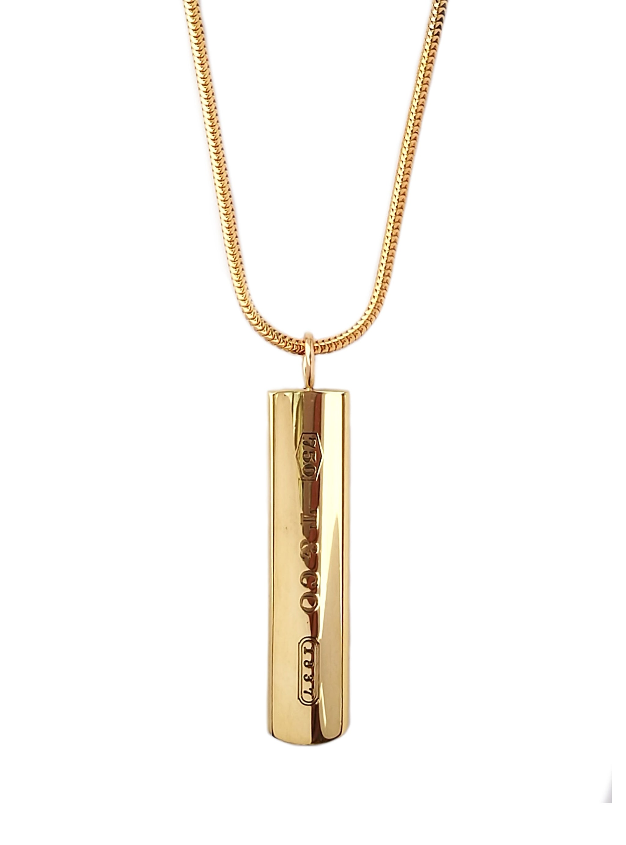 Tiffany & Co 1837 18k Yellow Gold Pendant Necklace 18in
