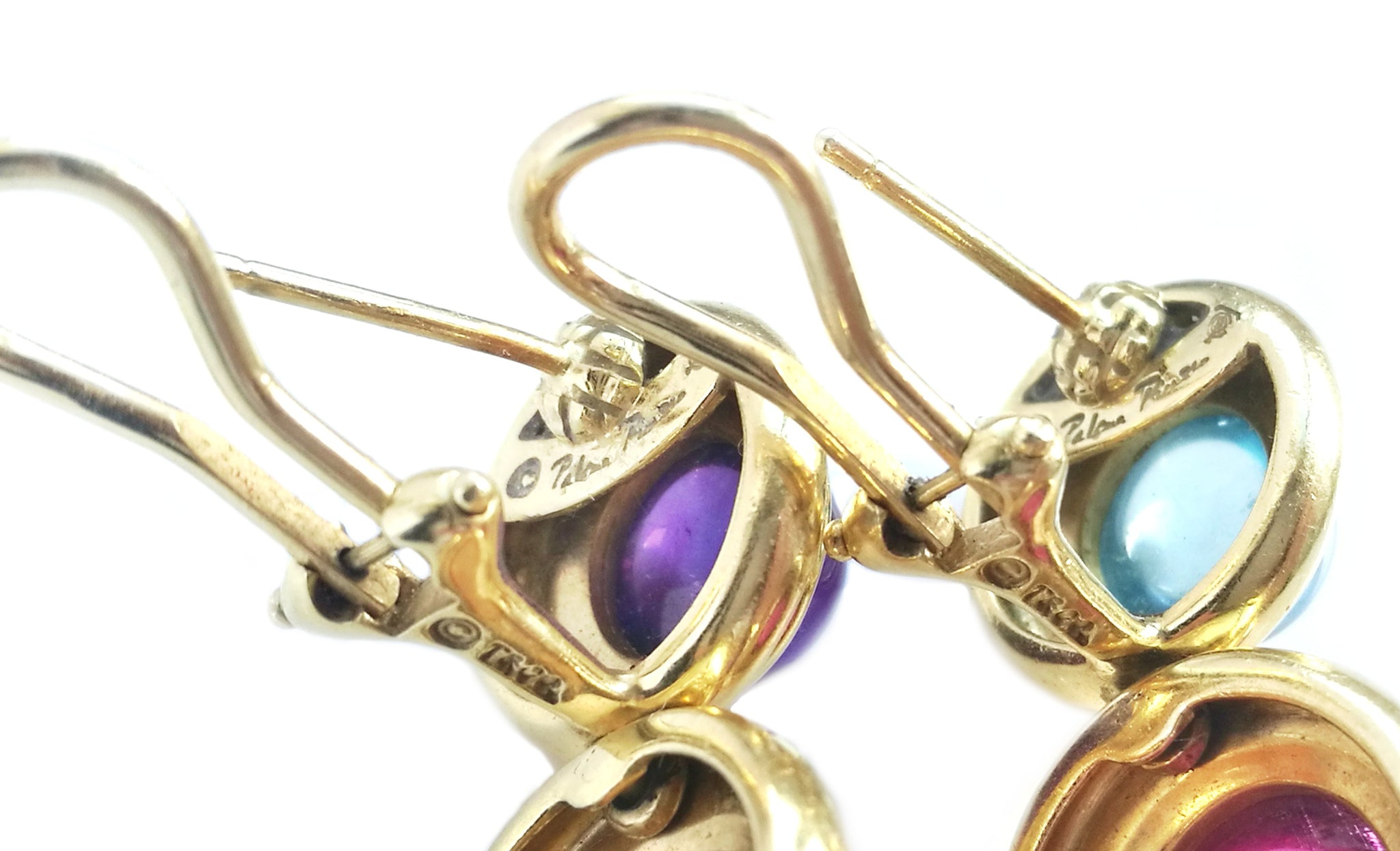 9087bca50 Tiffany & Co. Vintage '80s Paloma PICASSO Gem Stone Yellow Gold earrings