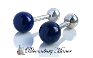 Tiffany & Co. Vintage Sterling Silver Lapis Cufflinks
