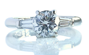Tiffany & Co 1.17ct G/VS1 3 Stone Round Brilliant Diamond Engagement Ring
