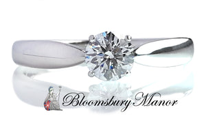 Tiffany & Co .41ct F/SI1 Harmony Round Brilliant Diamond Engagement Ring SZ M