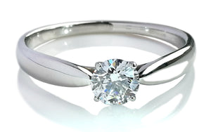 Tiffany & Co. 0.41ct F/SI1 Harmony® Round Brilliant Diamond Engagement Ring