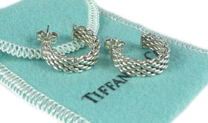 Tiffany & Co. Somerset Sterling Silver Hoop Earrings
