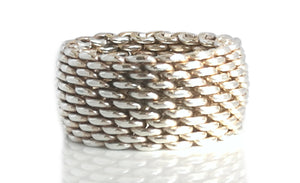 Tiffany & Co. Somerset Woven Ring, Size K