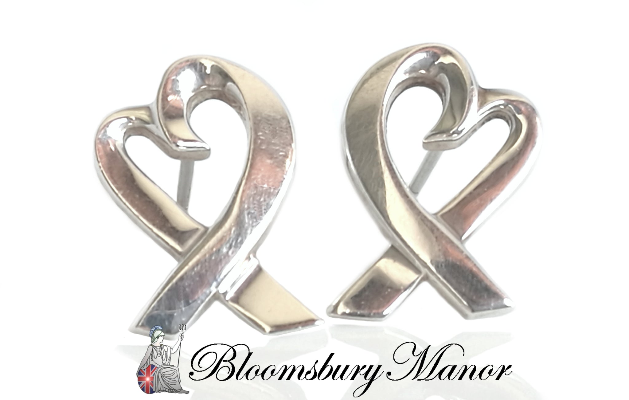 2c5ab5c73 Pre-owned Second Hand Tiffany & Co Silver Heart Earrings · Tiffany & Co. Paloma  Picasso Sterling Silver Loving Heart Earrings