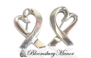 Pre-owned Second Hand Tiffany & Co Silver Heart Earrings