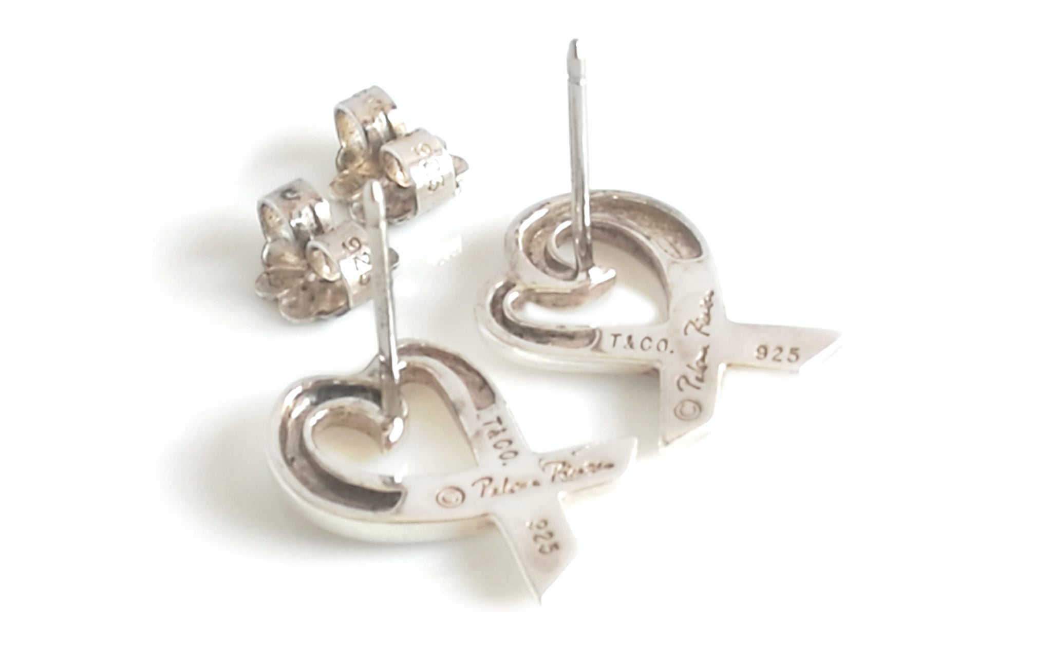 bfc66234f Tiffany & Co. Paloma Picasso Sterling Silver Loving Heart Earrings ...