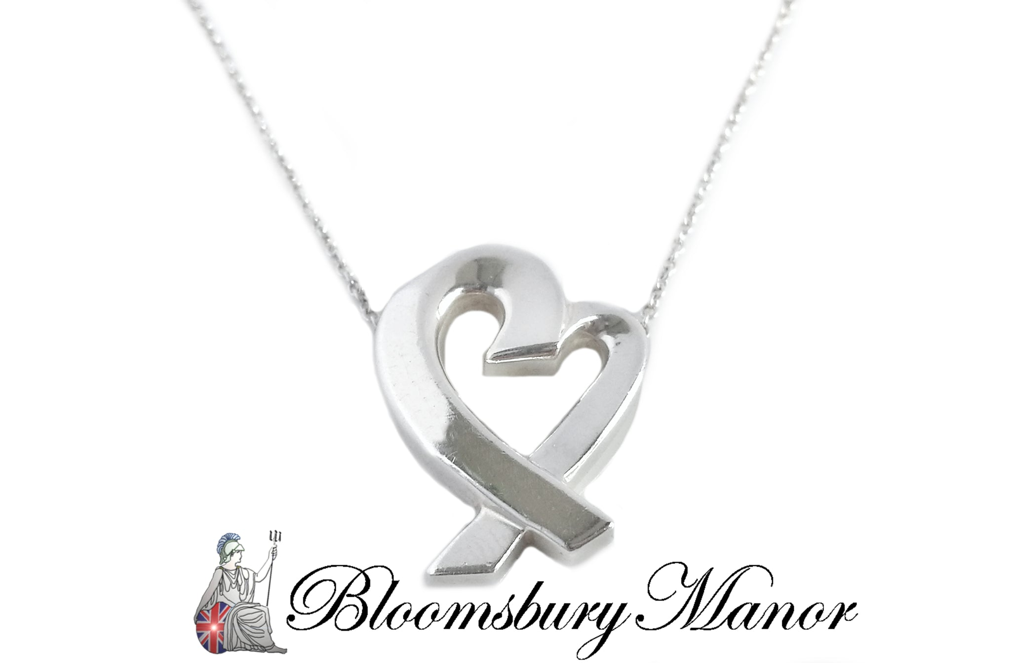Tiffany Co Paloma Picasso Sterling Silver Loving Heart 18 Inch Neck Bloomsbury Manor Ltd