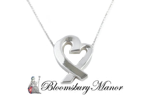 Pre-owned Second Hand Tiffany & Co Silver Heart Pendant