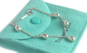 Tiffany & Co. Elsa Peretti Sterling Silver Teardop Bracelet – 7 inch