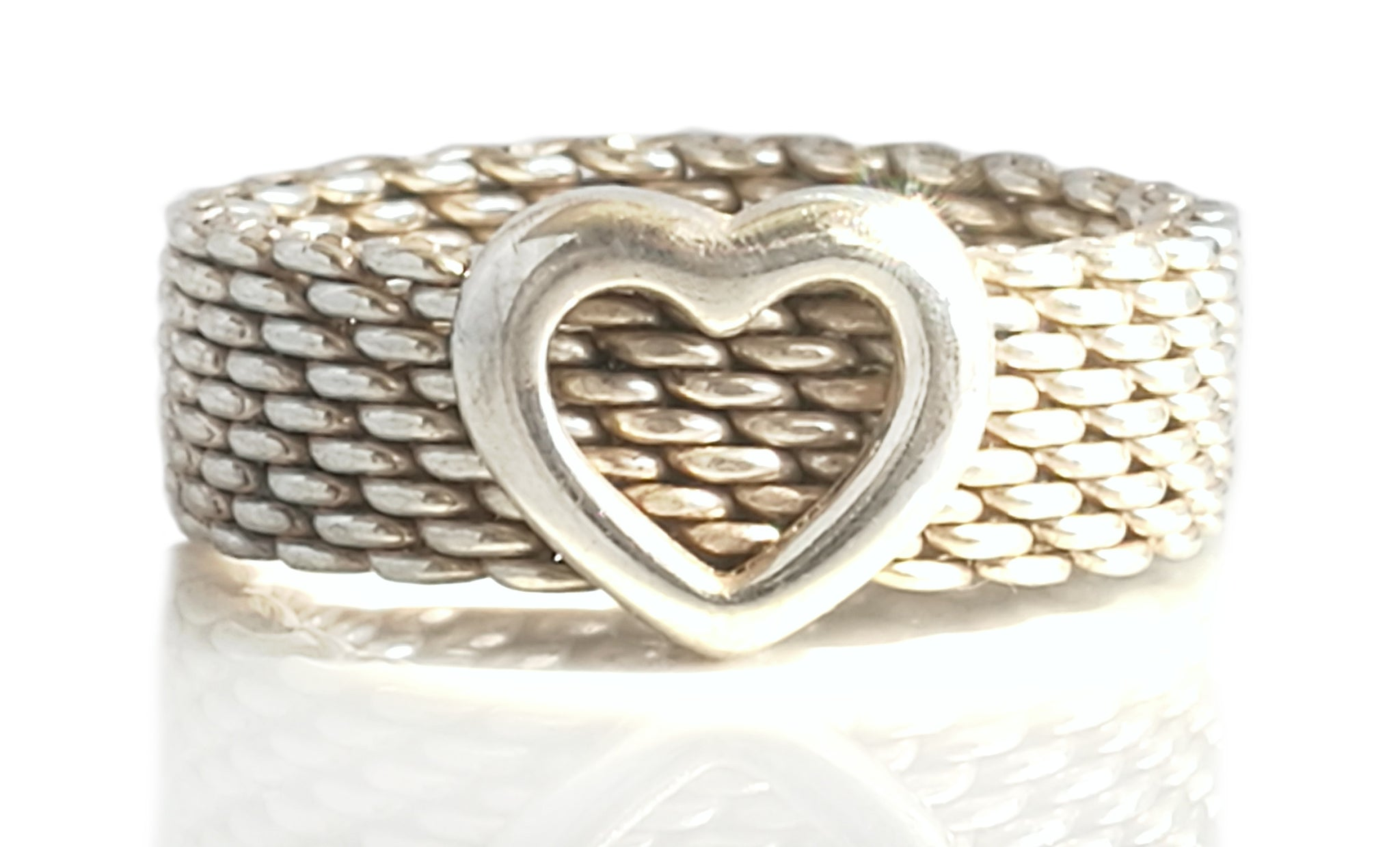 Tiffany & Co. Sterling Silver Somerset Heart Ring