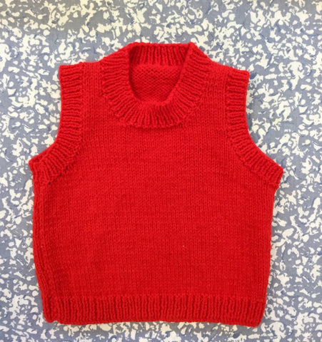 Knitted Red Tank Top