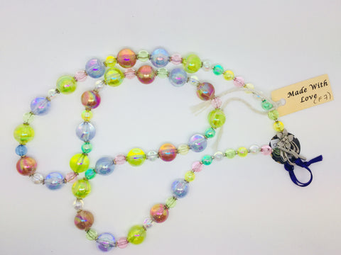 Pastel Multi-coloured bead necklace