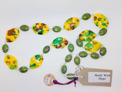 Green and Yellow Acrylic Bead Necklace