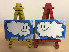 Clouds Together - Pair Of Mini Canvas Paintings